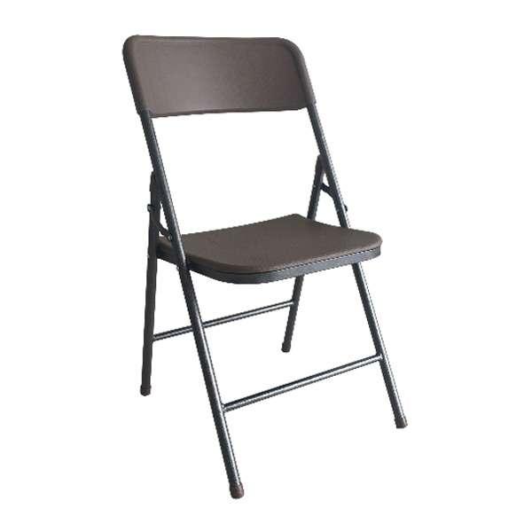 Tree O เก้าอี้พับพลาสติก SN-C02-BR น้ำตาล