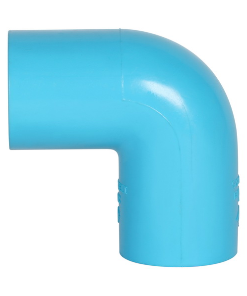 VAVO ข้องอ 1/2นิ้ว สีฟ้า