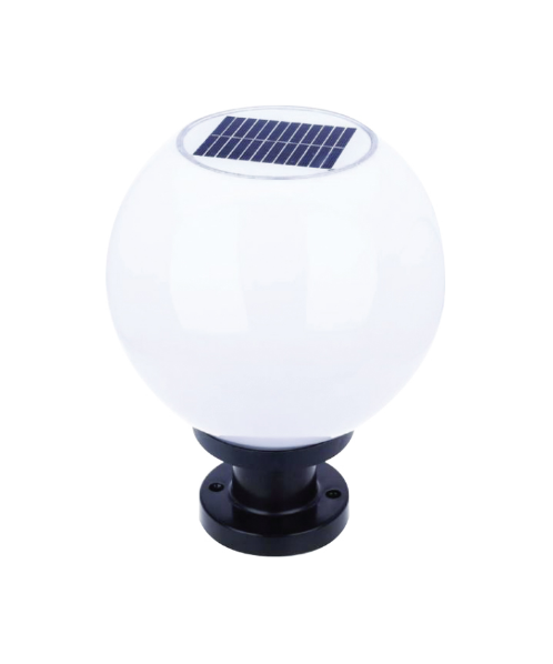 V.E.G โคมไฟหัวเสาโซลาเซล พร้อมขั้ว E-27 SMD-LED ขาว