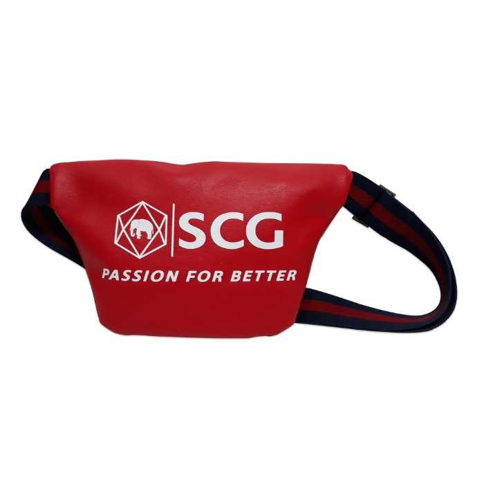 กระเป๋าคาดอก หนังสปอง PFB สีแดง