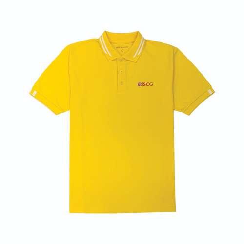 เสื้อโปโล ดรายเทค สีเหลืองสว่าง ช(L)