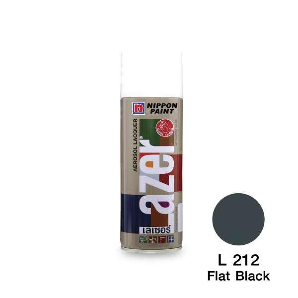 สีสเปรย์ LAZER L212 ดำด้าน NIPPON
