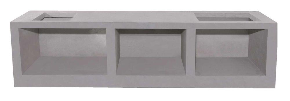 เคาน์เตอร์ Q-CON ส่วนอ่างน้ำ ขนาด 56x120x7.5 ซม.