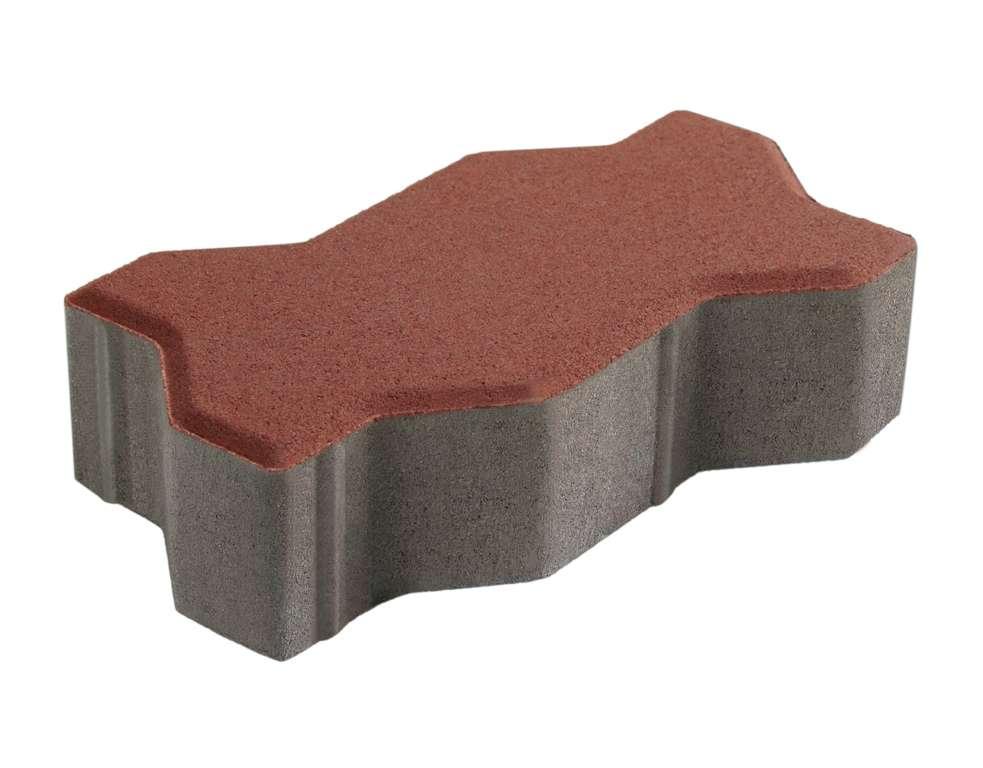 บล็อกปูพื้น เอสซีจี รุ่นคดกริช ขนาด 11.25 x22.5 x 6 ซม. สีแดง
